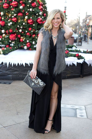 champagne and polkdots jenna st louis fashion blogger cs gems jewelry