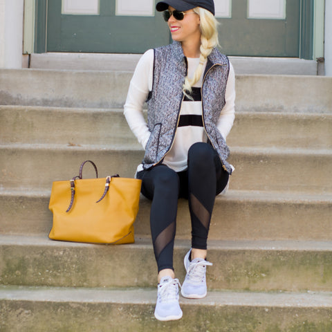 f1ac1fce62a4 Athleisure wear all day every day is my motto. I love when I can throw on  some comfy athleisure wear that is still stylish for running my everyday  errands.