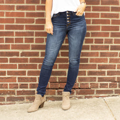 Kan Can High Rise Button Fly Super Skinny Jeans - www.shopcsgems.com