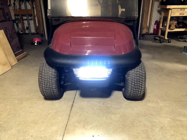 Club Car Precedent LED Headlight Install