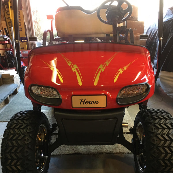 Customer install photo of EZGO TXT Valor Deluxe LED light kit.