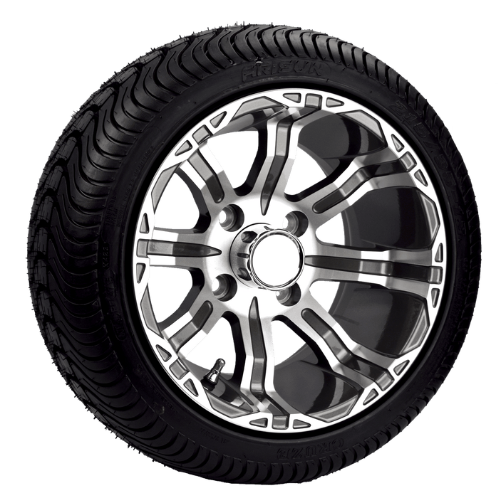 "Set of 4 - 215/35 Road / Turf Tires with 12"" Rims"