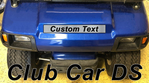 Custom Laser Engraved Club Car DS Nameplate