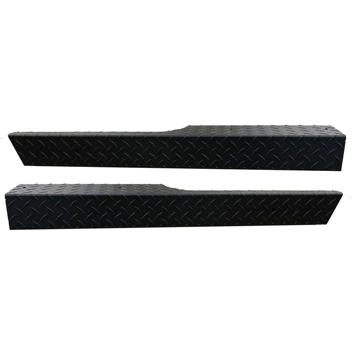 RXV black diamond plate rocker panel pair for EZGO golf cart.