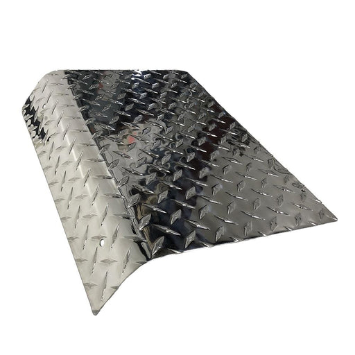 Diamond plate access panel for Club Car DS model golf cart.