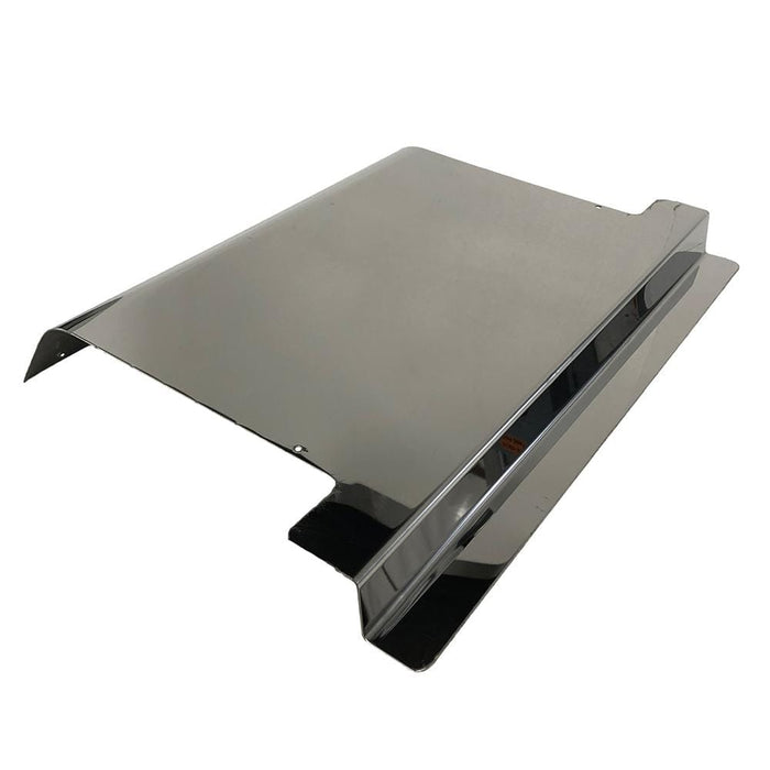 Stainless steel access panel for EZGO TXT model golf cart.
