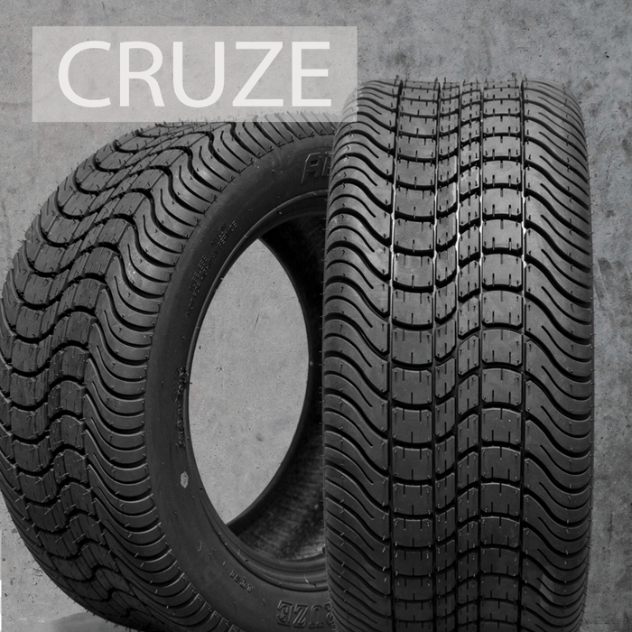 Arisun Cruze 12 inch low profile turf tire for golf cart.