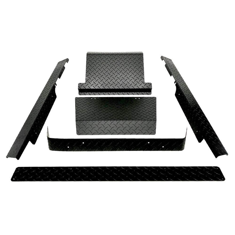 EZGO TXT Black Powder Coated Aluminum Diamond Plate Accessory Bundle