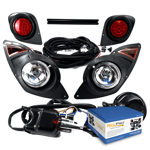 Yamaha Drive G29 Golf Cart 2007-UP DELUXE Street Legal HALOGEN LIGHT KIT