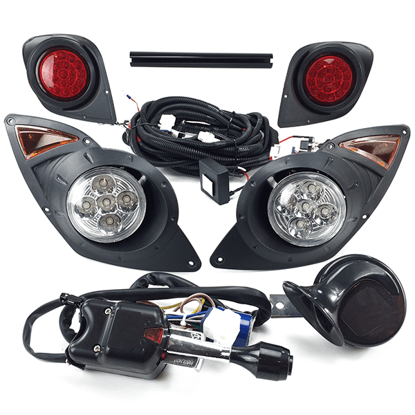 Yamaha Drive G29 Golf Cart 2007-UP DELUXE ALL LED Street Legal LIGHT KIT