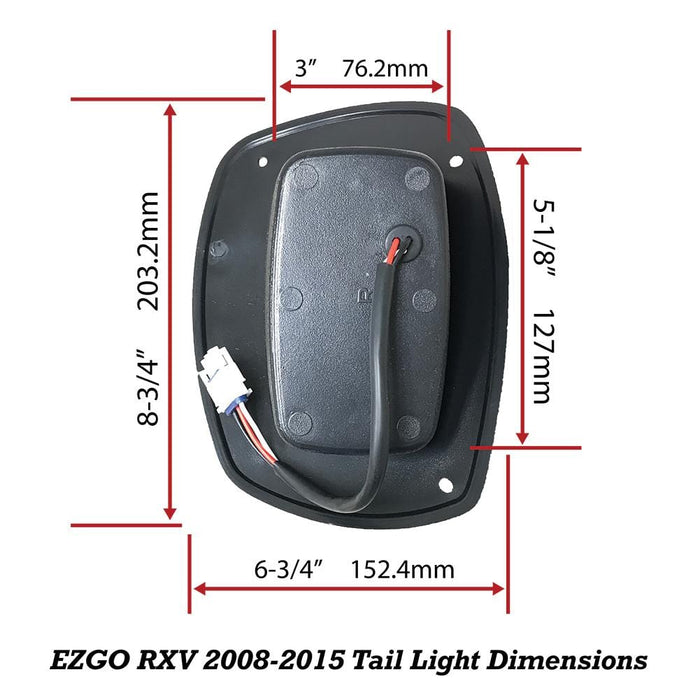EZGO RXV LED Tail Light Replacement Assemblies 2008 - 2015