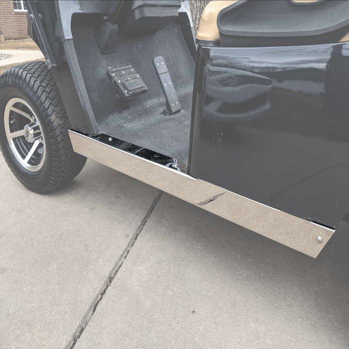 RecPro® EZGO TXT Golf Cart Stainless Steel Full Rocker Panels Polished