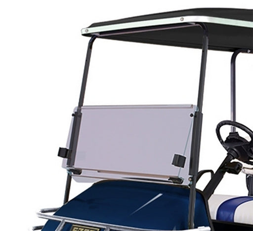E-Z-GO TXT Clear Golf Cart Folding Windshield Installed