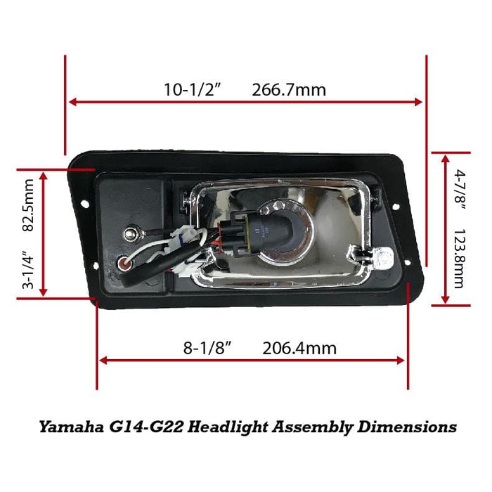 G14-G22 Halogen Headlight Replacement Assembly Dimensions