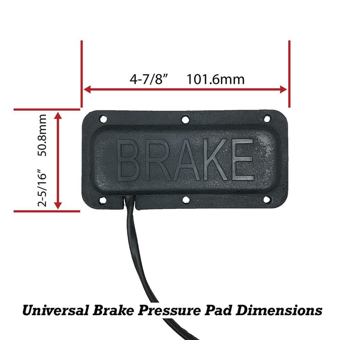 Universal golf cart brake pad replacement dimensions.