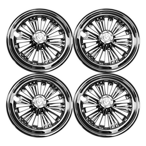 "10"" Universal Chrome Hub Caps - Set of 4"