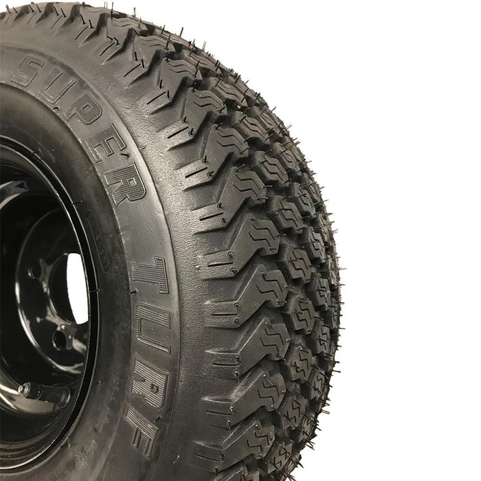 Genuine Kenda K500 Super Turf black wheel and tire featuring Super Turf lettering.