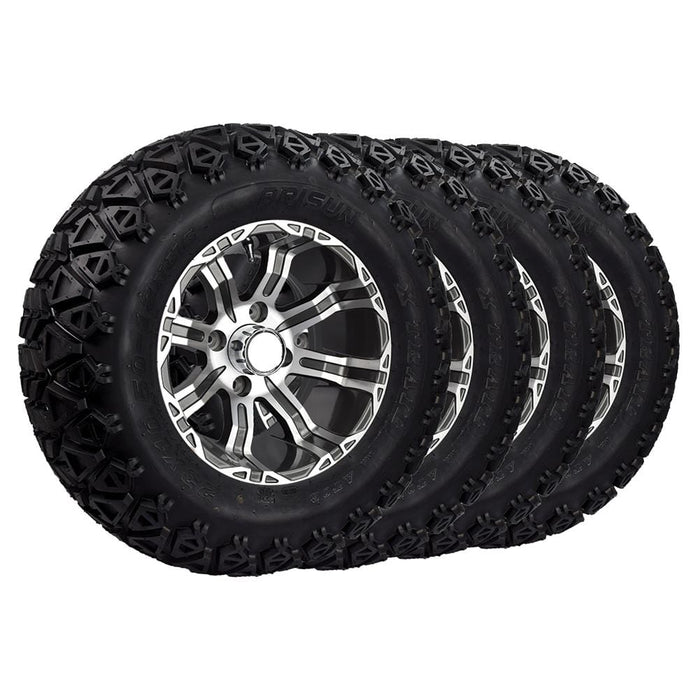"Set of 4 off road 23"" Lama rims and Arisun tires combo for lifted golf carts."