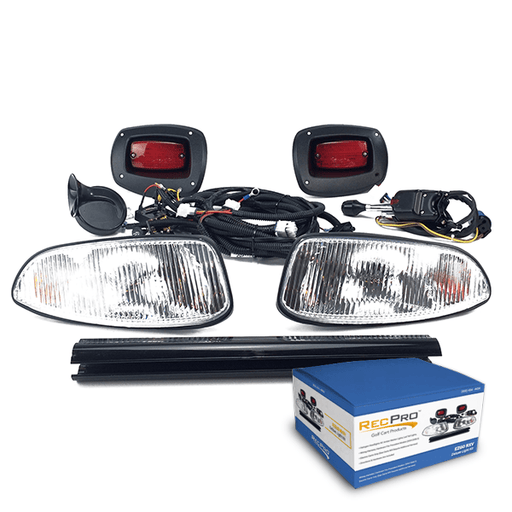 EZGO RXV 08-UP DELUXE STREET LEGAL HALOGEN LIGHT KIT w/ LED TAIL LIGHT
