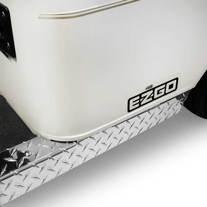 RecPro® EZGO RXV Golf Cart Diamond Plate Full Rocker Panels Polished Aluminum