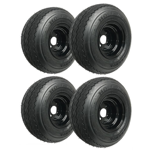 Set of 4 genuine Kenda Hole-N-1 black wheels and tires.