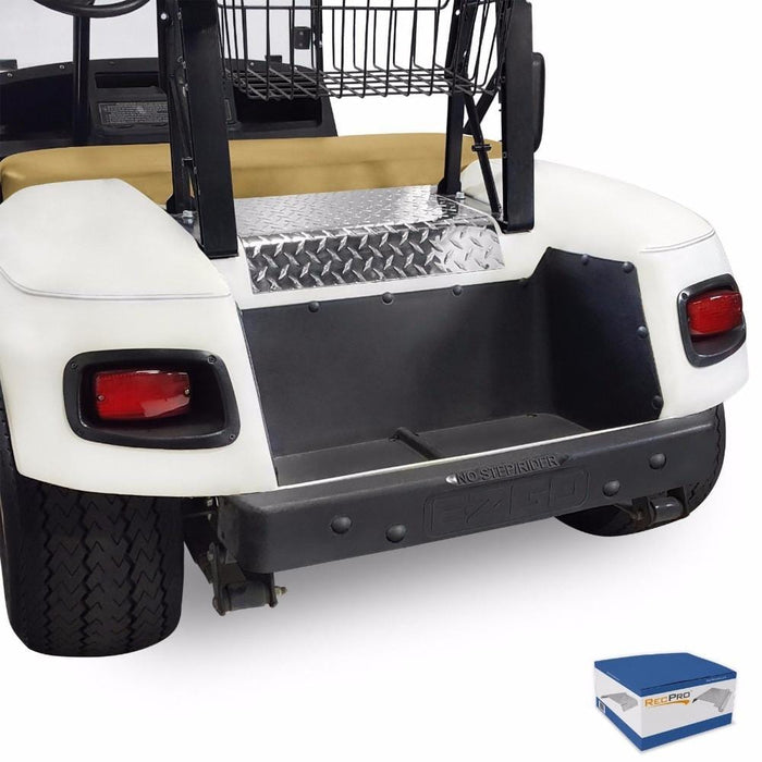 RecPro® EZGO TXT Golf Cart Diamond Plate Access Panel Polished Aluminum