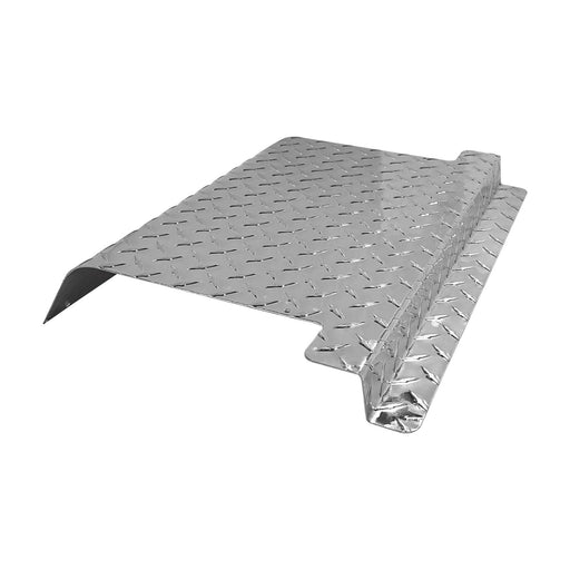 EZGO TXT golf cart polished aluminum diamond plate access panel.
