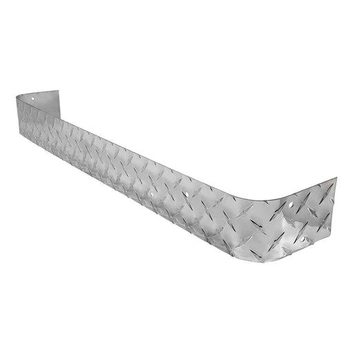 EZGO TXT golf cart polished aluminum diamond plate rear bumper.