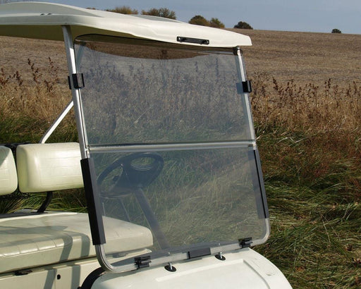 Yamaha G22 CLEAR Folding Acrylic Windshield Installed