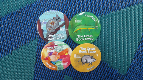 Great Book Swap House Badges