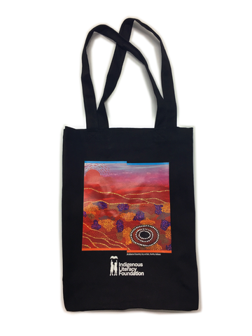 ILF canvas bag with Arabana artwork
