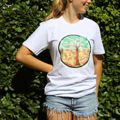 Arabana Art T-Shirt (White, Tree Design)