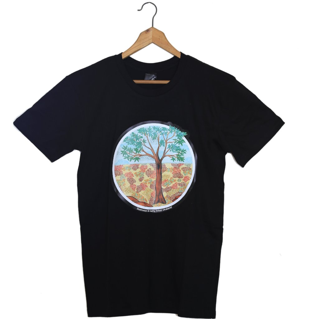 Arabana Art T-Shirt (Black, Tree Design)