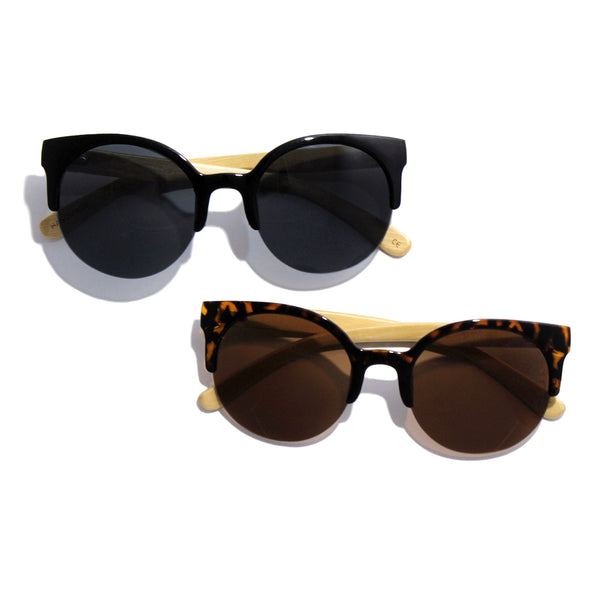 womens cat eye sunglasses, cat eye bamboo sunnies for women