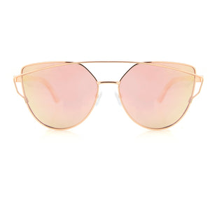 womens mens rose gold pink cat eye sunglasses polarized