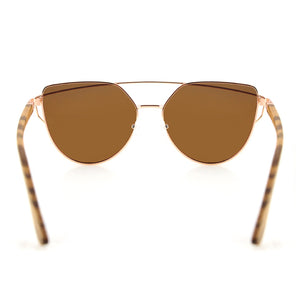 Coco // Polarized Brown Cat-Eye Sunglasses