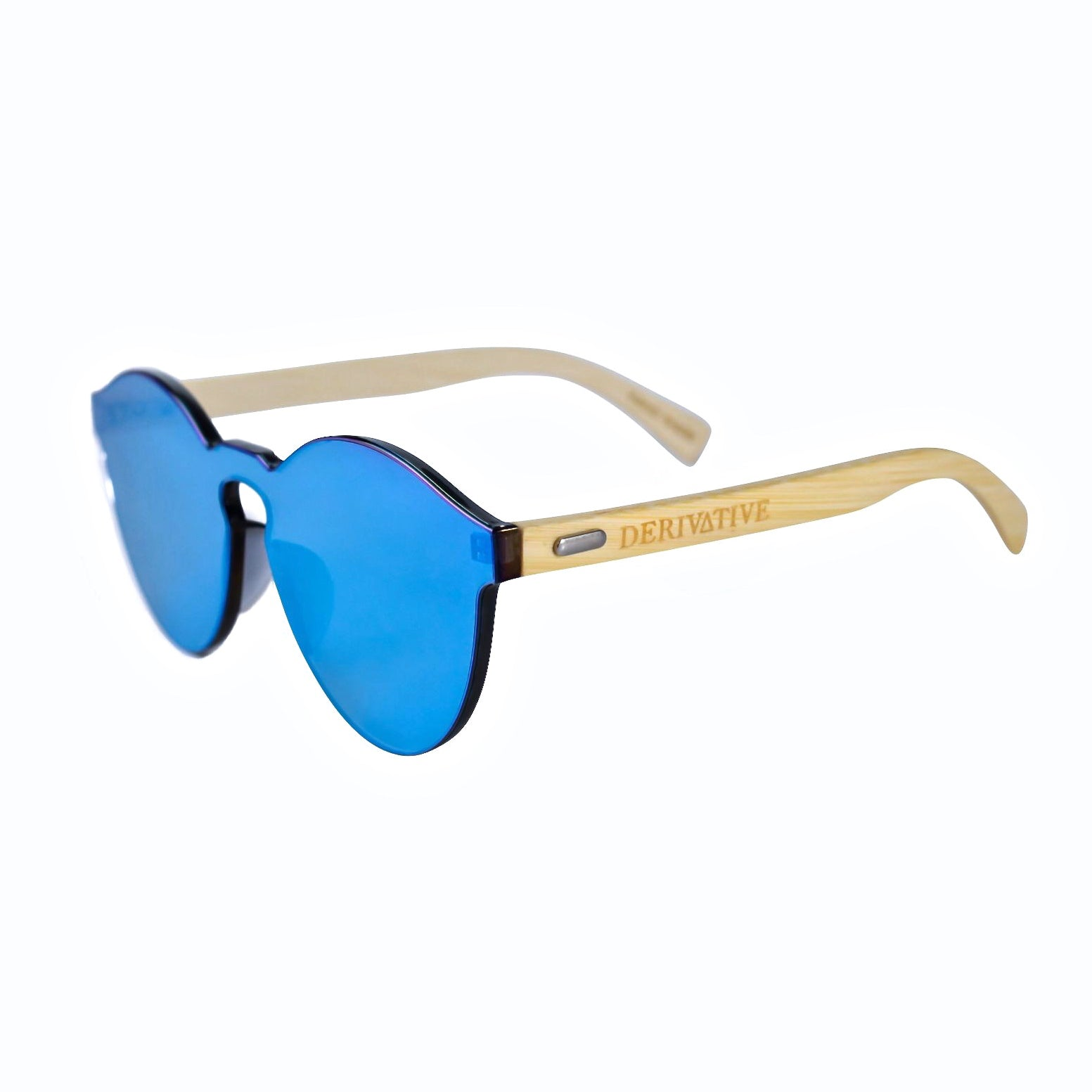 Blue Infinity Lens Rimless Sunglasses by Derivative