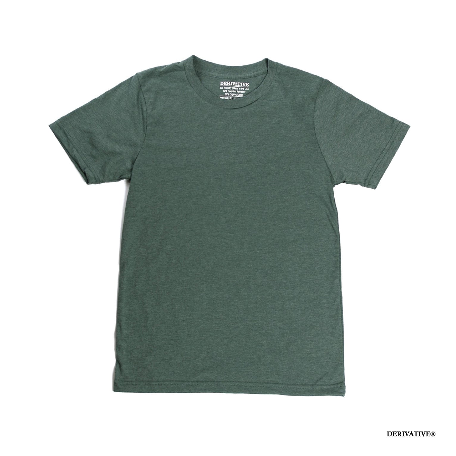 eaa88217a5 Organic Cotton & Recycled Polyester T-Shirts - Heather Green ...