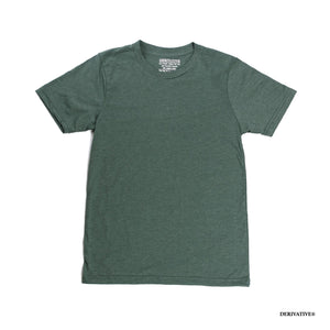 heather green organic sustainable recycled t-shirts