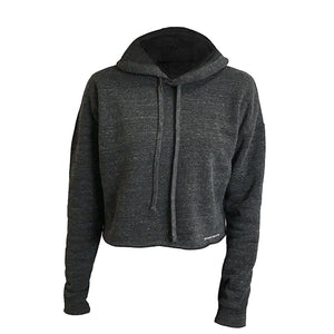 eco friendly sustainable cropped hoodies for women from recycled plastic bottles