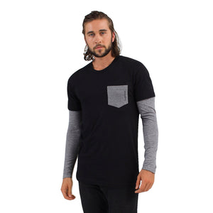 sam krumrine in derivative mens pocket tee t shirts by Derivative eco friendly clothing brand