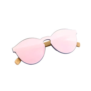 pink infinity lens rimless polarized sunglasses