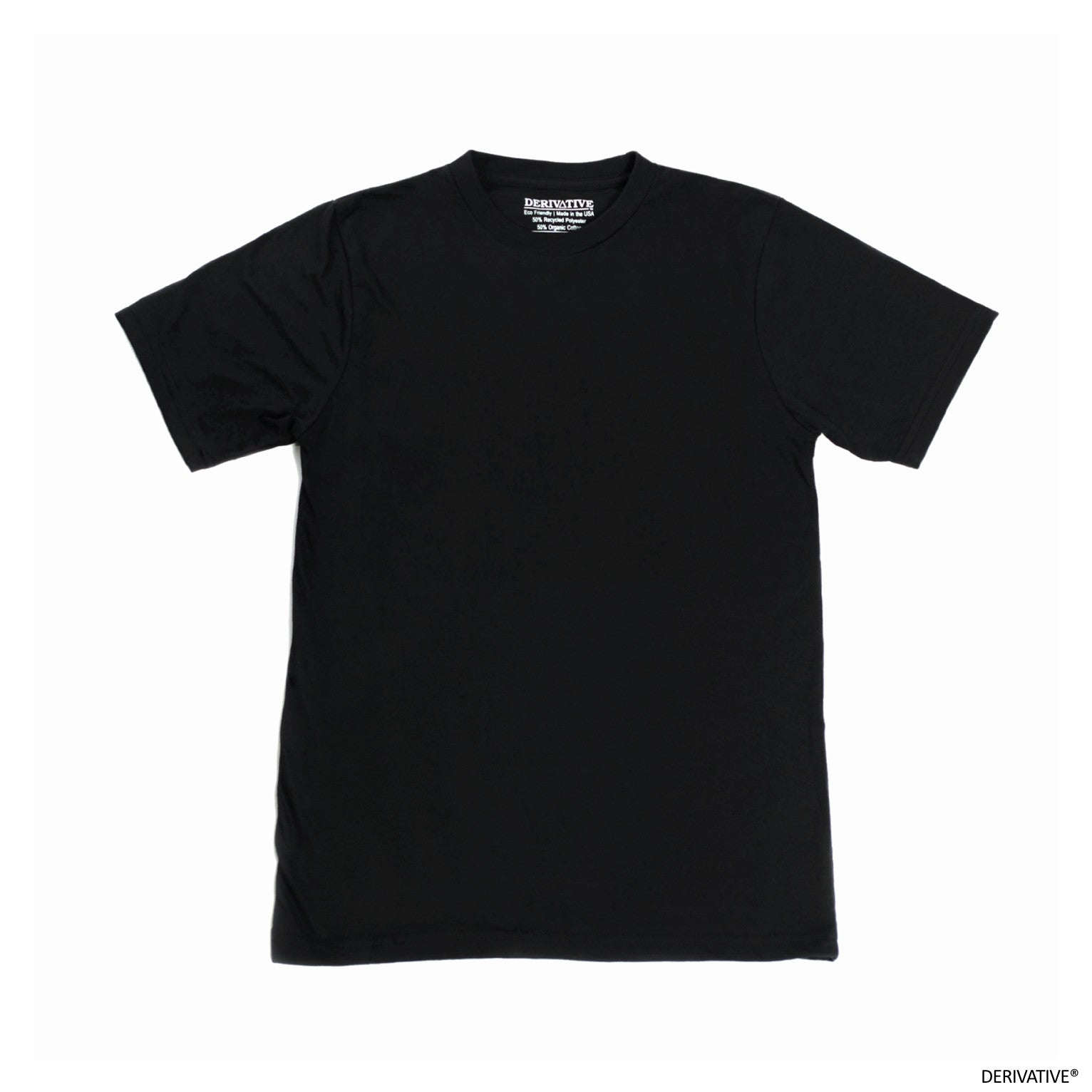 black t shirts made from recycled plastic bottles