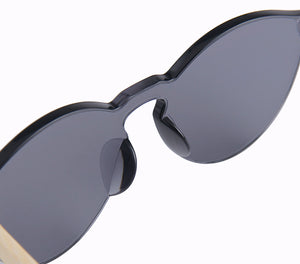 black infinity lens frameless polarized sunglasses