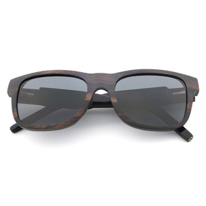 wayfarer style wooden sunglasses polarized