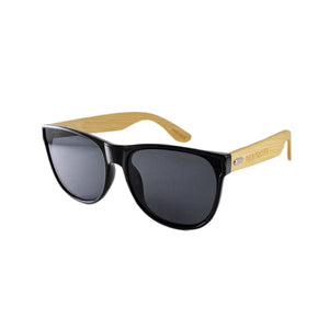 black flat lens polarized sunglasses