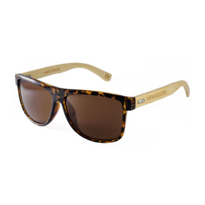 tortoiseshell sunglasses, bamboo wood temple sunglasses