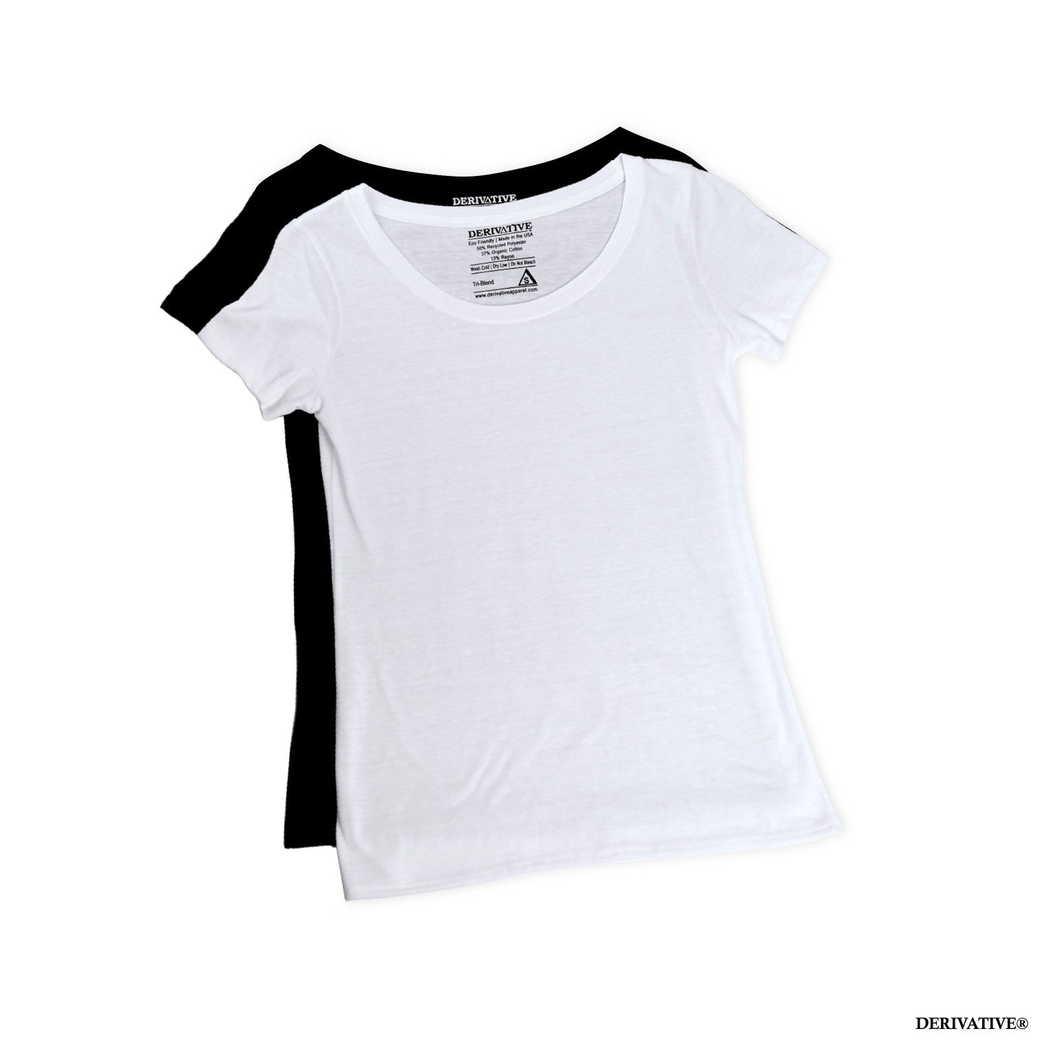 soft comfortable womens eco friendly scoop neck t shirts made from organic cotton & recycled materials