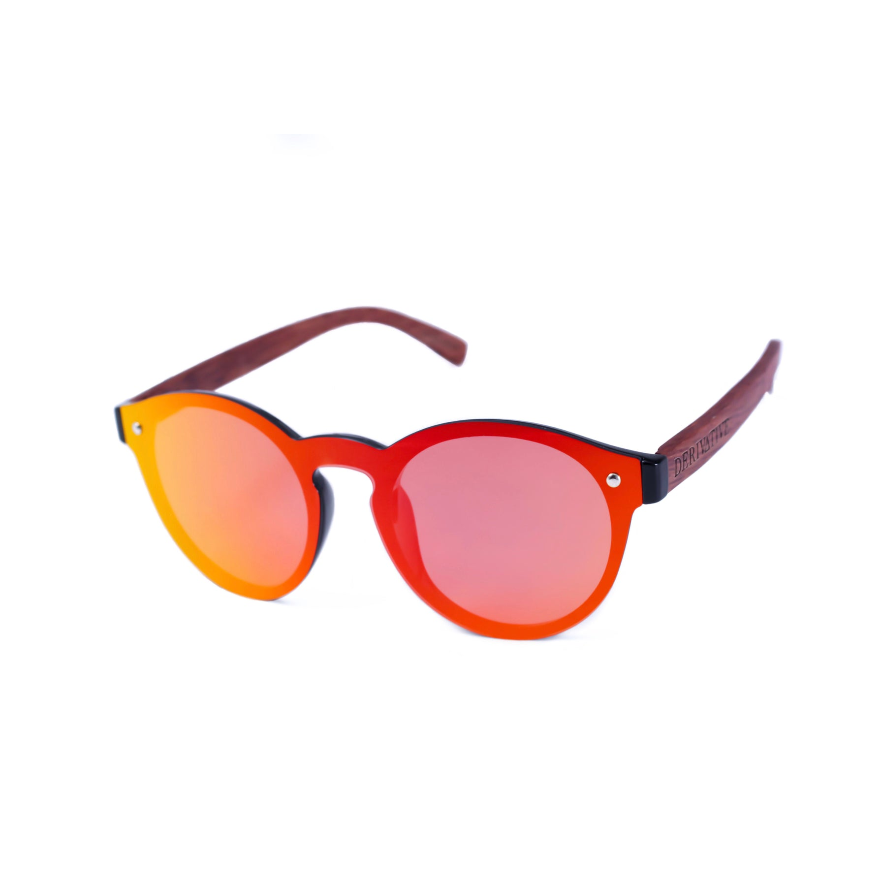 red rimless polarized sunglasses