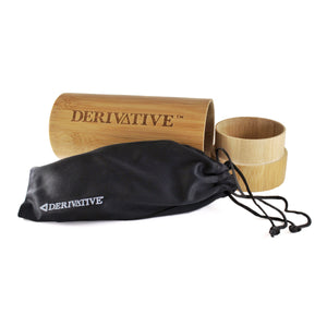 wood case & microfiber sunglass pouch for polarized wood sunglasses